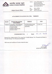 BIS Certificate AGGARWAL